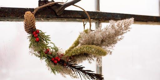 Fabrication de couronne de Noël