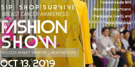 Sip | Shop | Survive, a breast cancer awareness fashion show tickets
