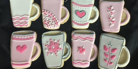 Coffee Cup Cookies - For Macmillan Coffee Morning tickets
