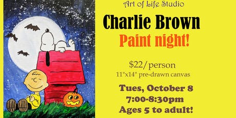 Paint Night: Charlie Brown Halloween tickets