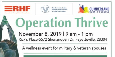 Operation Thrive tickets