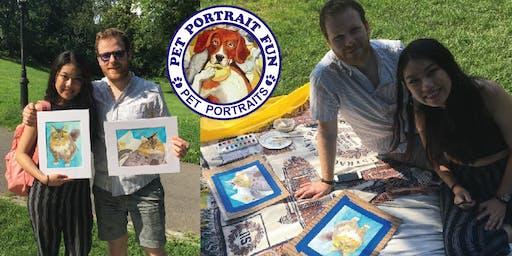 Paint Your Pet Portrait Pup Picnic- Central Park NEW YORK