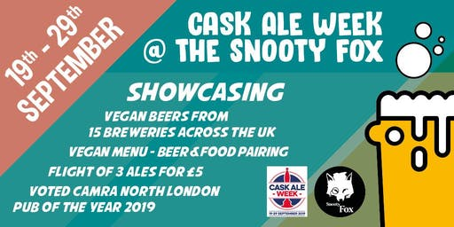 Vegan Cask Ale Week @ The Snooty Fox