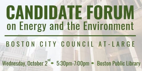 Boston At-Large Candidate Forum tickets
