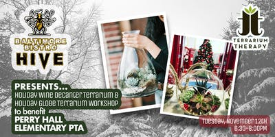 Holiday Terrarium Workshop at HIVE Baltimore Bistro