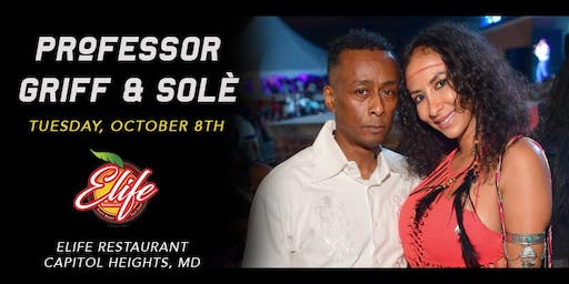 Professor Griff and Sole at ELife Restaurant: Mu'Syn-cology