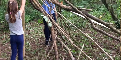 Children and family event - walk with some den building