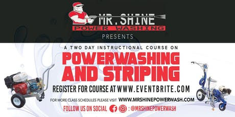 2 day Powerwashing & Parking lot striping course tickets