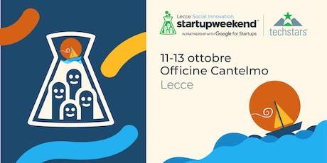 Techstars Startup Weekend Lecce 11-13/10/19 biglietti