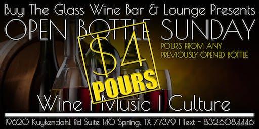 Open Bottle Sunday's | $4 Pours from Open Bottles