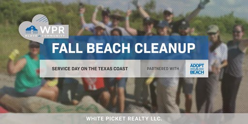 WPR Service Day! Texas Adopt-A-Beach 2019 Coastwide Fall Cleanup