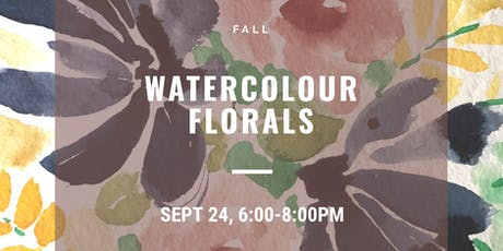 Fall Watercolour Florals tickets