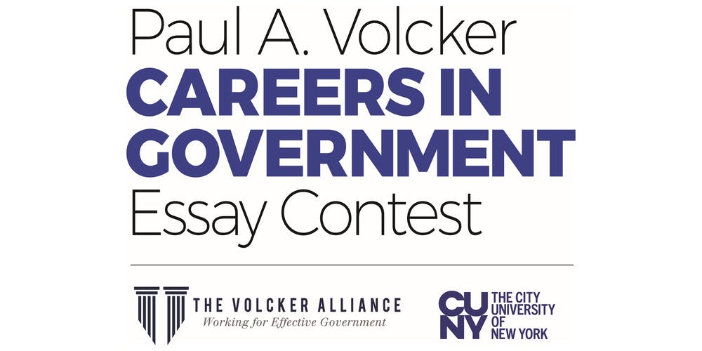 Paul A  Volcker Careers in Government Essay Contest Info