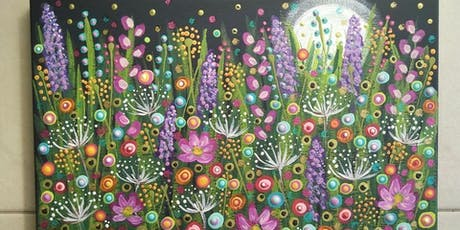 Moonlight over the Garden, Mandala Painting Class at Soule' Studio tickets