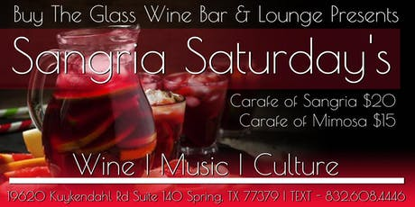 Sangria Saturday's | $15 Carafes tickets