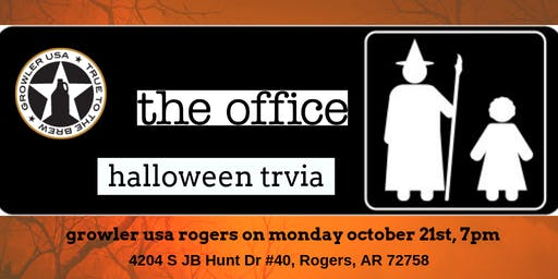 The Office Trivia (Halloween Episodes) at Growler USA Rogers