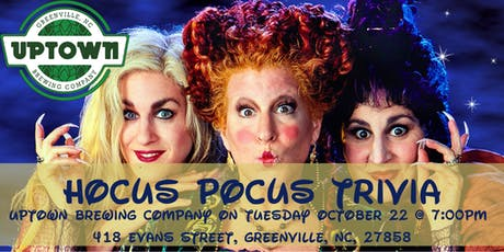 Hocus Pocus Trivia at Uptown Brewing Company tickets