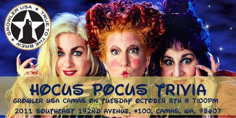 Hocus Pocus Trivia at Growler USA Camas tickets
