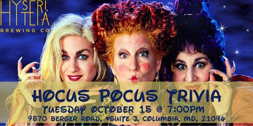 Hocus Pocus Trivia at Hysteria Brewing Company