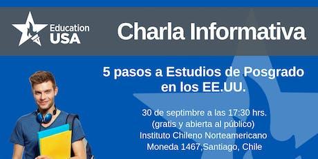 Charla de Posgrado Septiembre 2019 tickets