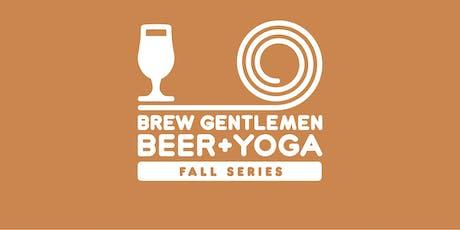Beer + Yoga: Fall Series tickets