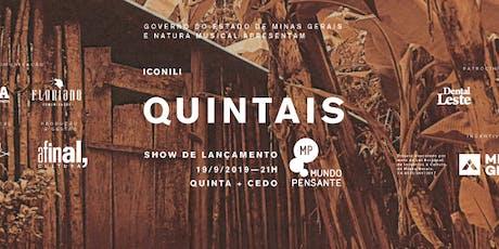 19/09 - QUINTA + CEDO | ICONILI NO MUNDO PENSANTE ingressos