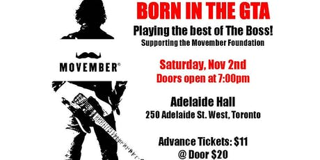 Born In the GTA An Evening of Bruce Springsteen Tribute supporting Movember tickets