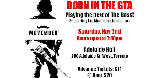 Born In the GTA An Evening of Bruce Springsteen Tribute supporting Movember
