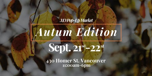 XO Pop-Up Market: Autumn Craft Fair