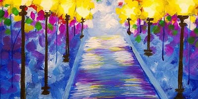 Rainy Pathway Saturday Afternoon Paint Party