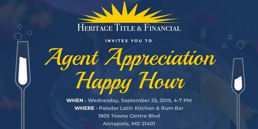 Real Estate Agent Appreciation Happy Hour