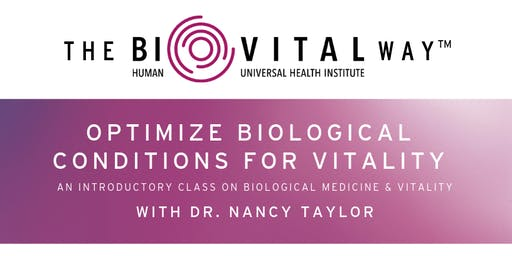 BioVital Way: Optimize Biological Conditions for Vitality