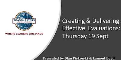Toastmasters - Workshop: Creating & Delivering Effective Evaluations