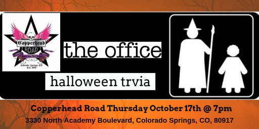 The Office *HALLOWEEN EPISODES* Trivia at Copperhead Road Bar & Nightclub