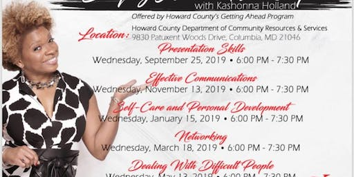 Staying Ahead Workshops with Kashonna Holland