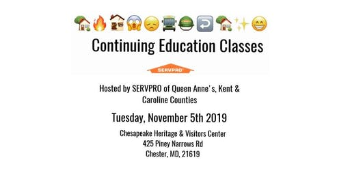 CE Classes- SERVPRO of Queen Anne's, Kent & Caroline Counties