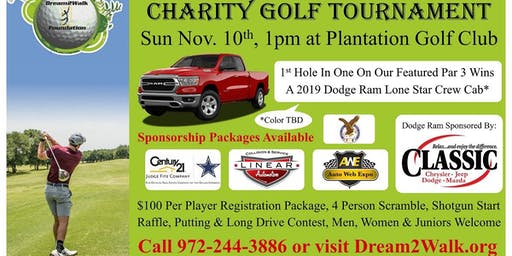 The Dream2Walk Foundation's Annual Charity Golf Tournament Nov. 10th, 2019