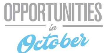 Opportunities in October - Jobseekers