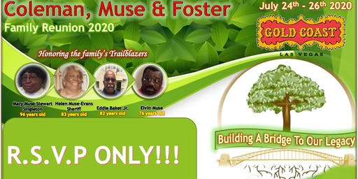 Muse, Foster and Coleman Family Reunion (RSVP) only