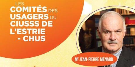 Les droits des usagers: le contexte particulier en protection de la jeunesse - Me Jean-Pierre Ménard billets