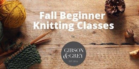 October Beginner Knitting Class tickets