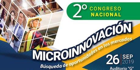 2° Congreso Nacional Microinnovación septiembre 2019 boletos