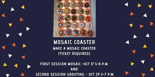Mosaic Coaster Making with Molly