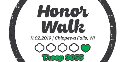 Honor Walk for Girl Scout Troop 3055