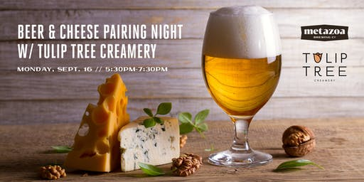 Beer & Cheese Pairing Night w/ Tulip Tree Creamery