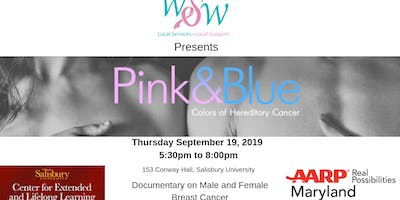 Pink & Blue Colors of Hereditary Cancer Presented by WSW