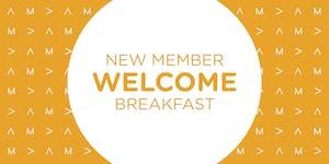 New Member Welcome Breakfast: September 25