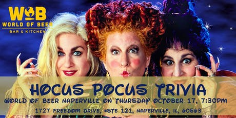 Hocus Pocus Trivia at World of Beer Naperville tickets