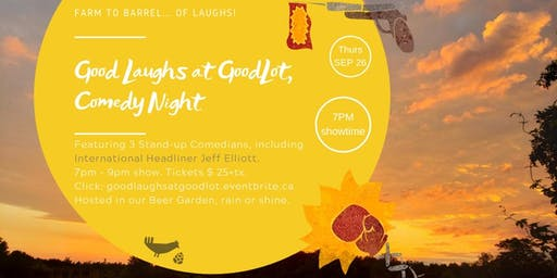 Good Laughs at GoodLot, Comedy Night