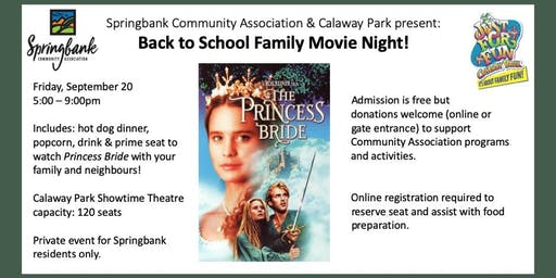 Back to School Family Movie Night at Calaway Park - 2nd Annual
